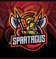 spartacus esport mascot logo design vector image vector image