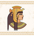 the egyptian goddess isis animation portrait of vector image