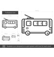 trolleybus line icon vector image