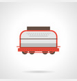 universal boxcar flat color icon vector image vector image