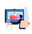 video call with parents online family chat vector image vector image