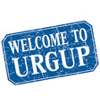 welcome to Urgup blue square grunge stamp vector image vector image
