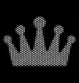white halftone crown icon vector image
