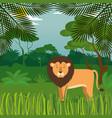 wild in the jungle scene vector image