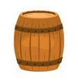 wooden barrel cartoon vector image