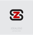 zs - design element or icon initial monogram vector image vector image