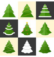 pine icons set vector image