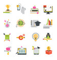 online education icons set distance vector image