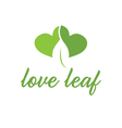 Abstract leaf from heart vector image