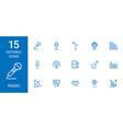 15 radio icons vector image vector image
