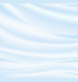 abstract blue background silk fabric vector image vector image