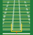 american football field vertical background vector image vector image