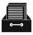 archive papers icon simple style