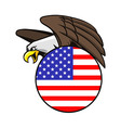 bald eagle in star stripes circle badge vector image vector image