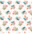 beautiful seamless pattern color whimsical flower vector image vector image