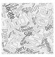 Body Building Anatomy Word Cloud Concept vector image vector image