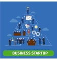business pyramid infographics vector image