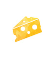 Cheese in abstract style vector image vector image