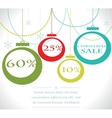 Christmas sale balls with snowflake vector image