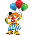 clown and balloon vector image vector image