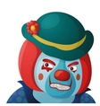 Clown angry vector image vector image
