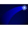 Comet on starry sky vector image