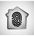 computer data protection fingerprint graphic vector image