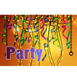 concept of party celebration vector image vector image