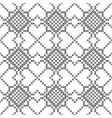 cross stitch seamless decorative pattern vector image vector image