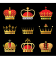 crowns set vector image vector image
