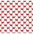 cute crab seamless pattern cartoon hand drawn vector image vector image