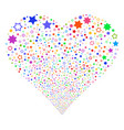 decoration stars fireworks heart vector image