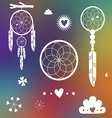 Dreamcatcher designs on blurred background vector image vector image