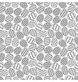 easter eggs gray seamless pattern vector image vector image