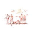 family beach summer sand people concept vector image vector image