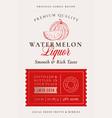 family recipe watermelon liquor acohol label vector image vector image