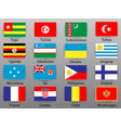 flags of all countries of the world part 10 vector image