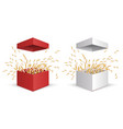 gift box surprise box set opening vector image vector image