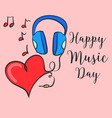 happy music day card style vector image vector image