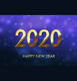 happy new year 2020 background vector image