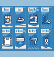 household appliance linear icons set vector image vector image