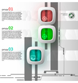 Infographics of 3 steps vector image