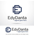 letter e and d logo template vector image