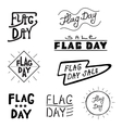 logos and labels Flag day vector image vector image
