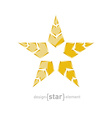 luxury golden star with arrows on white background vector image vector image