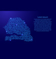 map senegal from printed board chip and radio vector image vector image