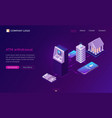 mobile atm withdrawal isometric concept banner vector image vector image