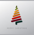 modern christmas tree made from lines vector image vector image