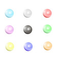 multicolored pearls jewellery nacre beads vector image vector image