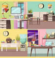 office orthogonal concept set vector image vector image